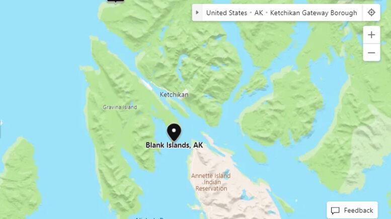 Blank Islands, Ketchikan, Maps